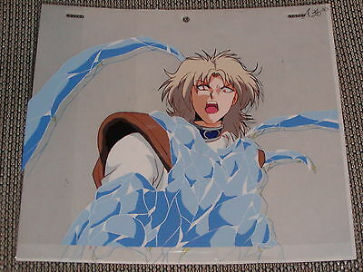 Slayers Next Production Anime Cel - Halcyform Fighting + Sketch