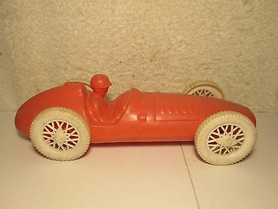 Rare Michelin Tires Advertising Toy Race Car With Driver Signed West Germany Old