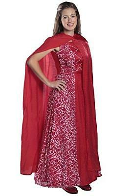 Princess Paradise Womens Adult Riding Hood, Red, Small
