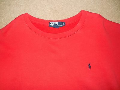 Vintage Polo Ralph Lauren Men's Sweatshirt Red Blue Xl Used Cotton Polyester