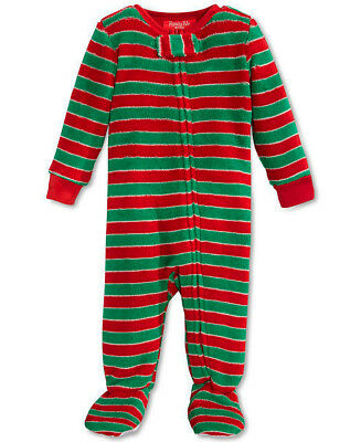 FAMILY PAJAMAS $19 NEW 0996 Stripe Jumpsuit Unisex Baby Toddler One-Piece 18MO