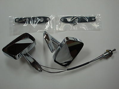 1967 1968 Ford Mustang Remote Mirrors - Left & Right-NEW-Deal!!!