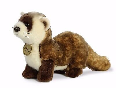 "New AURORA MIYONI Stuffed Plush Toy BLACK FOOTED FERRET 10.5"" Soft Pet Animal"