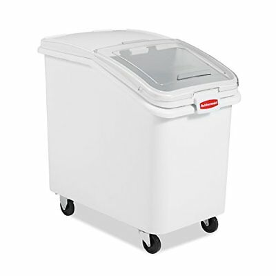 Rubbermaid Commercial ProSave Shelf Ingredient Bin with Measuring Tool, White