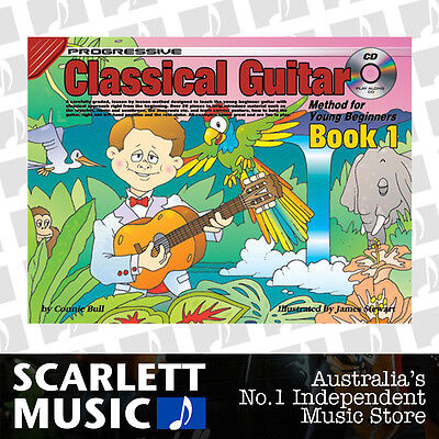 Progressive Classical Guitar Method Young Beginners Book 1 ( One / First ) w/ CD