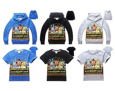 Kids Boys Girls Five Nights at Freddy's Hoodies Sweatshirts T-Shirts Tops