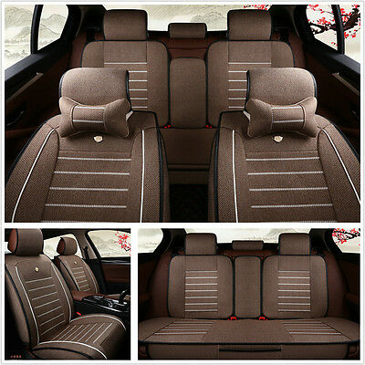 Standard Edition 5-Seats Car Seat Cover Accessories Car Protector Mat w/Pillows