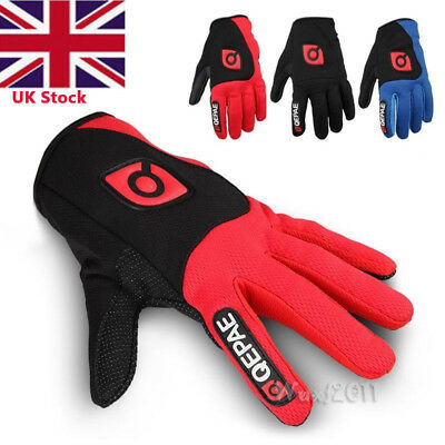 Winter Cycling Motorcycle Racing Bicycle Bike Silicone Gel Full Finger Gloves UK