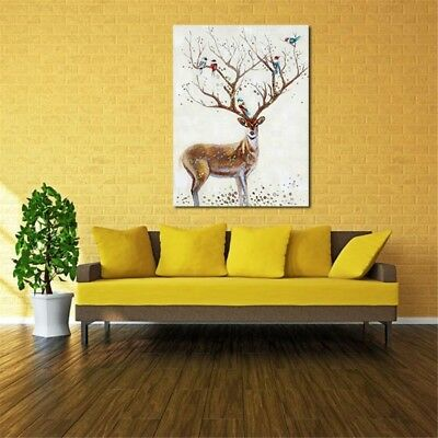 Unframed Modern Deer Canvas Art Print Poster Oil Painting Wall Home Wall Decor