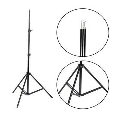Vamery Aluminum Adjustable Single 2m Light Stand Reflexed Light Stand Black
