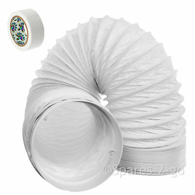 """3m Vent Hose Pipe PVC 5"""" Extension Kit for Baumatic Cooker Hood Extractor"""