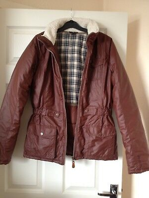 Brown Coat  Age 15 - 16 years BY BENCH Quilted  Lined school JACKET