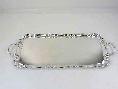 "Excellent 54cm SILVER WAITER TRAY 1470g 21.5"", sandwich, drinks cocktails or tea"