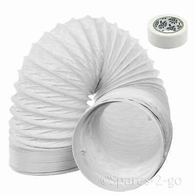"""3m Vent Hose PVC 5"""" Extension Kit for Samsung Cooker Hood Extractor"""