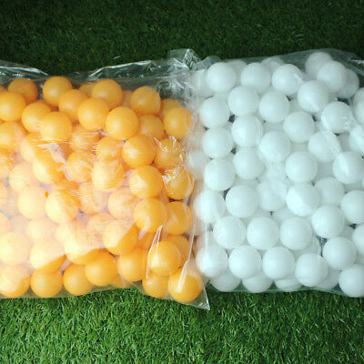 100/150Pcs Plastic Table Tennis Ball Ping Pong Balls Training White Yellow