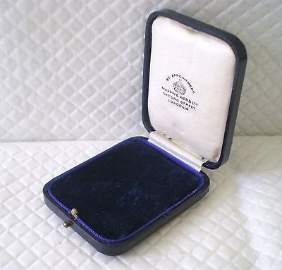 Mappin & Webb Antique Vintage Gilded Leather Box/case/display Oxford St London