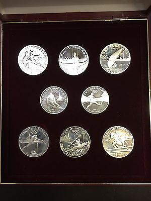 ANDORRA - 8 Coins Silver - 1992 - J.O (6 X 20 DINERS + 2 X 10 diners)