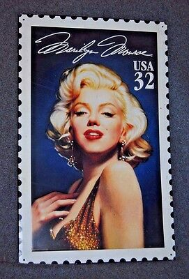 1995 USPS Marilyn Monroe 32 Cent Stamp Metal Sign - RARE