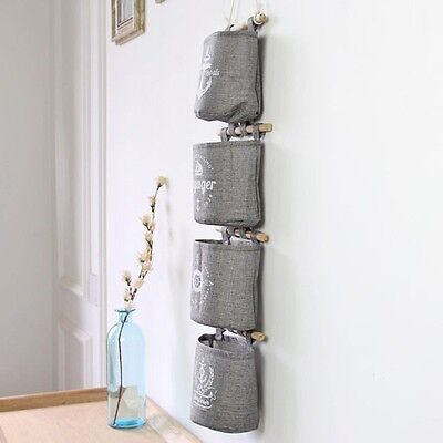 Fashion Home Decor Hanging Hanger Storage Bag Hanger Navy Anchor Wheel Pattern