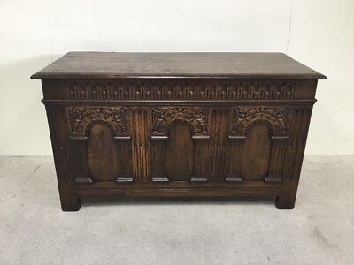 Antique Oak Blanket Box / Shoe Box Manner Of Titchmarsh And Goodwin
