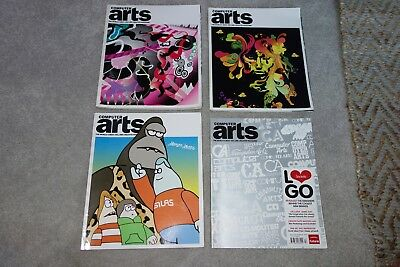 Computer Arts Magazines X 4 - Issues 128 129 130 + 143! James Jarvis Logos Etc