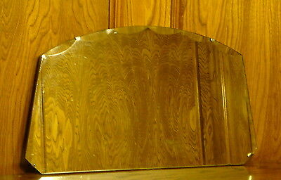 Vintage Graduated & Scalloped Beveled Glass Mirror