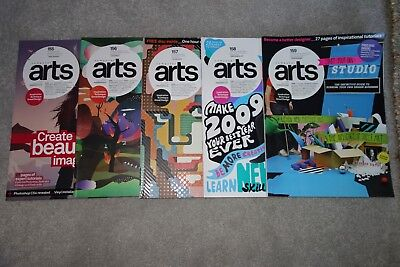 Computer Arts Magazines X 5 - 2008/2009 Issues 155 - 159! Start Your Own Studio