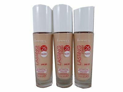 3 x Rimme Lasting Finish 25 Hour Foundation 30ml GLASS BOTTLE choose shade