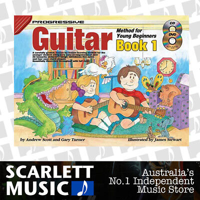 Progressive Guitar Method for Young Beginners Book 1 ( One / First ) w/CD & DVD
