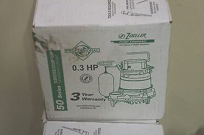 Zoeller M53 Mighty-mate Submersible Sump Pump, 1/3 Hp BRAND NEW IN BOX