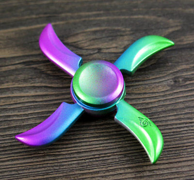 4 pin multicolor Hand Spinner Toy Fidget Finger Spin Hand Desk EDC ADHD Autism