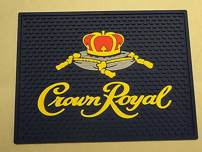 Crown Royal Canadian Whisky Bar Spill Mat Rubber Coaster New
