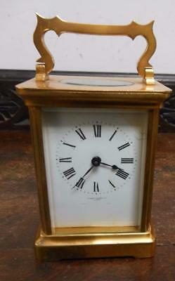 brass cased carriage clock