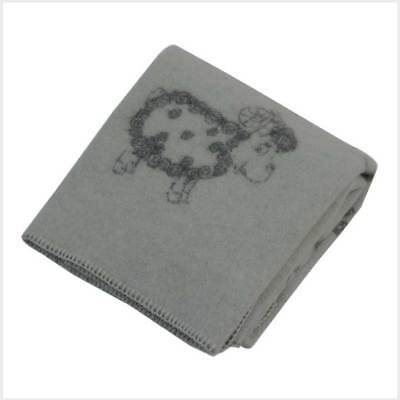 Wool Kids Blanket Grey Sheep
