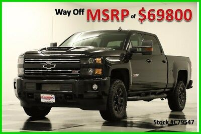 2017 Chevrolet Silverado 2500 HD MSRP$69800 4X4 LTZ Diesel Blacked Out Sunroof 4 New 2500HD Midnight Edition Duramax Heated Cooled Black Leather 17 Crew Cab 6.6L
