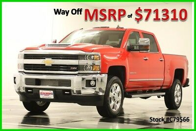 2017 Chevrolet Silverado 2500 HD MSRP$71310 4X4 LTZ Diesel Z71 DVD Sunroof Red New 2500HD Duramax Sunroof Heated Cooled Leather  Navigation 17 Crew Cab 4WD