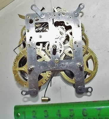 Wm. L. Gilbert Clock Movement With A Chime Bell Parts No Reserve