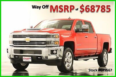 2017 Chevrolet Silverado 2500 HD MSRP$68785 4X4 LTZ Diesel Sunroof Red New 2500HD Duramax GPS Heated Cooled Leather Navigation 17 Crew Cab 4WD 6.6L V8