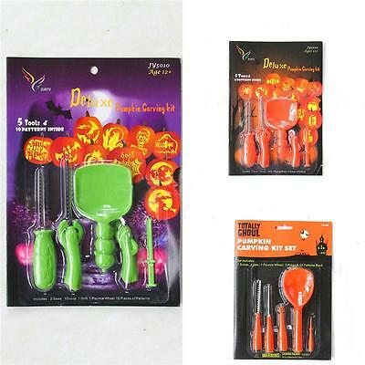 Sale Halloween Party Pumpkin Carving Kit Portable DIY 5 Tools NEW & Boxed