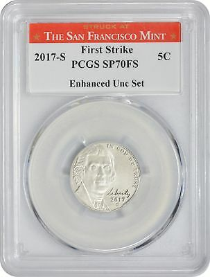 2017-S Enhanced Uncirculated Set Jefferson Nickel SP70FS PCGS First Strike SF