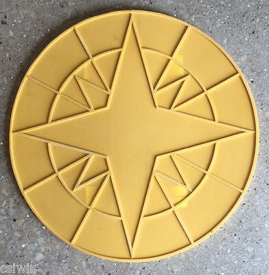 Compass Star Accent Concrete Stamp 24""