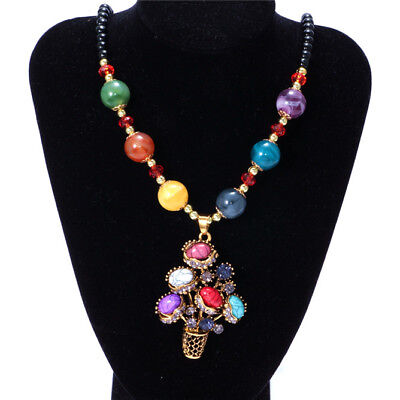 Women's Vintage Baskets Fashion Jewelry Hot Charm Crystal Pendant Necklace C3