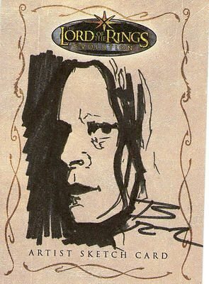 Lord of the Rings Evolution:  Sketch Card by Brian Rood