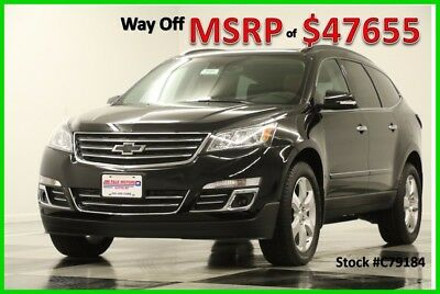 2017 Chevrolet Traverse MSRP$47655 AWD Premier Sunroof GPS Mosaic Black New Navigation Heated Cooled Mojave Leather Seats 7 Passenger Captains 16 17 SUV