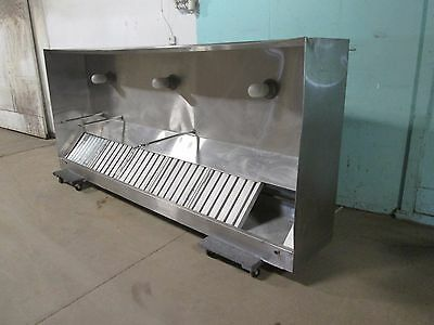 """""""quality"""" H.d. Commercial Ss 120""""w (Nsf) Lighted Type 1 Restaurant Exhaust Hood"""