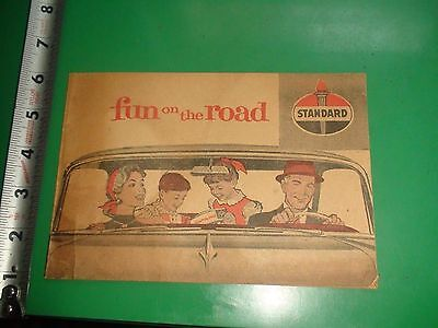 JC424 Vintage Fun on the Road Activity Book Ad Standard Oil