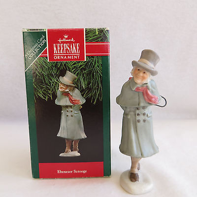 Hallmark Ebenezer Scrooge 1991 Ornament Christmas Carol Collection QX4989 Boxed