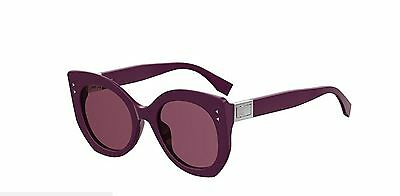 195a56f1739 NEW FENDI FF 0265 S 0T7 4S Plum Burgundy Sunglasses -  274.99