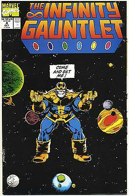 INFINITY GAUNTLET #4 F, Thanos, George Perez a, Direct c. Marvel Comics 1991