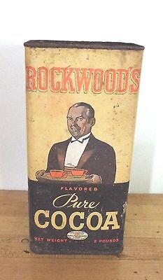 Vintage Rockwood's Pure Cocoa 2 Lb Cannister